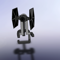 Small Star Wars Tie Fighter iphone stand for charger 3D Printing 179880