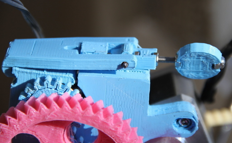 Adjustable Extruder Latch 3D Print 179975