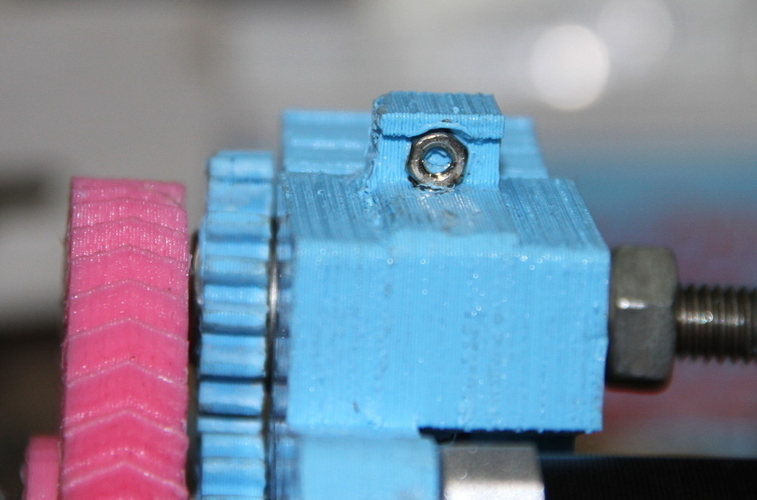 Adjustable Extruder Latch 3D Print 179976