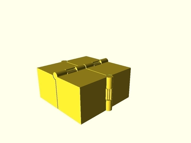 Four Hinged Boxes 3D Print 180022