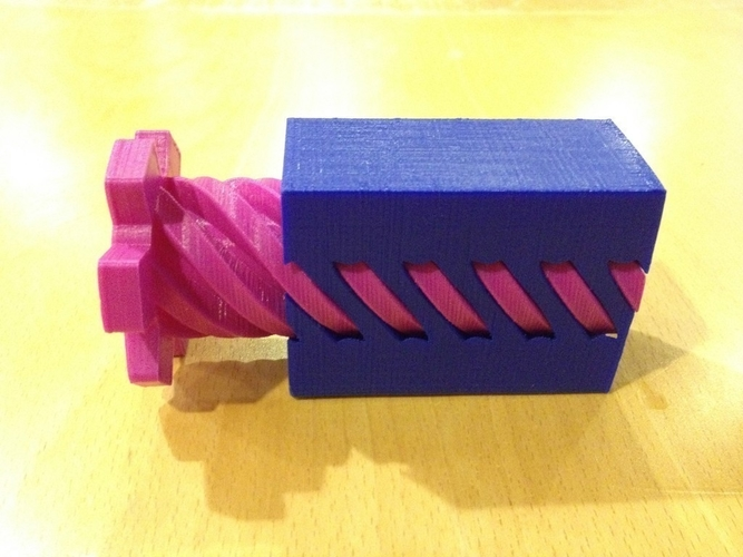 Screw and Holey Box 3D Print 180042