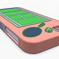 Small iPhone 5 Tennis Case 3D Printing 180071