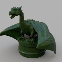 Small Dragon Bottle Stopper 3D Printing 180169