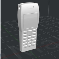 Small old mobile phone keychain 3D Printing 180182
