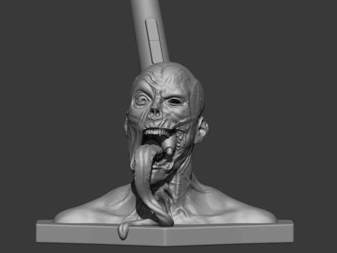 Zombie  head Wacom pen holder 3D Print 180197