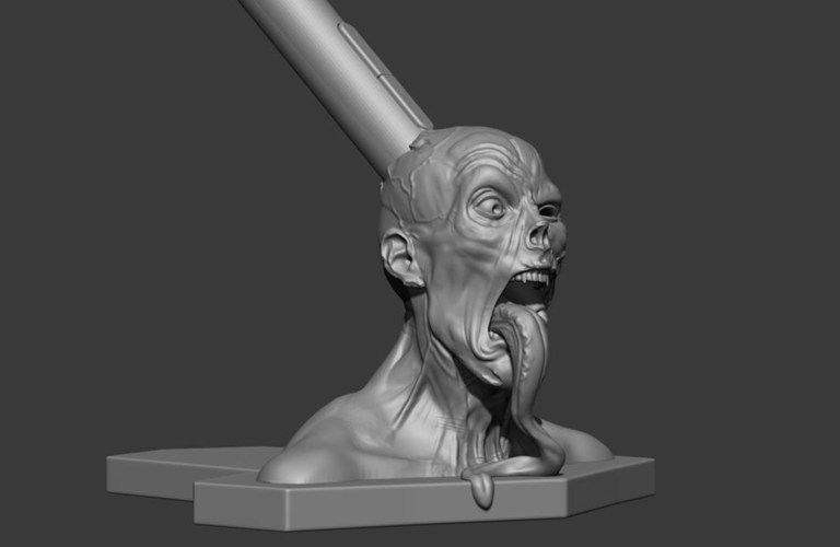 Zombie  head Wacom pen holder 3D Print 180198