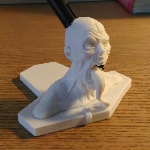 Zombie  head Wacom pen holder 3D Print 180201
