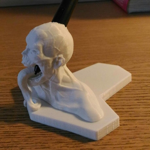 Zombie  head Wacom pen holder 3D Print 180202