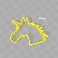 Small Cookie Cutter - Unicorn Head  3D Printing 180275