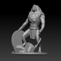 Small Barbarian Lion 3D Printing 180276