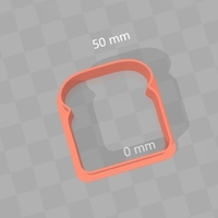 Small Cookie / Egg Cutter - Bread Loaf Slice 3D Printing 180280