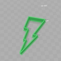 Small Cookie Cutter - Gatorade Lightning Bolt 3D Printing 180288