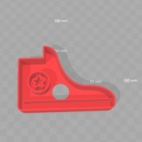 Small Cookie Cutter - Converse Shoe 3D Printing 180291