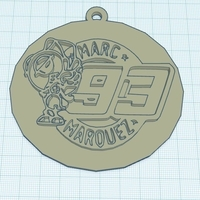 Small Marc Marquez keyhanger 3D Printing 180296