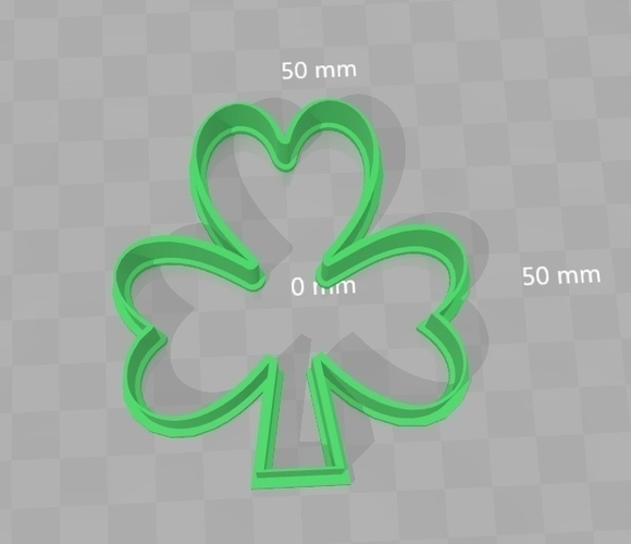 Cookie Cutter - Shamrock 3D Print 180301