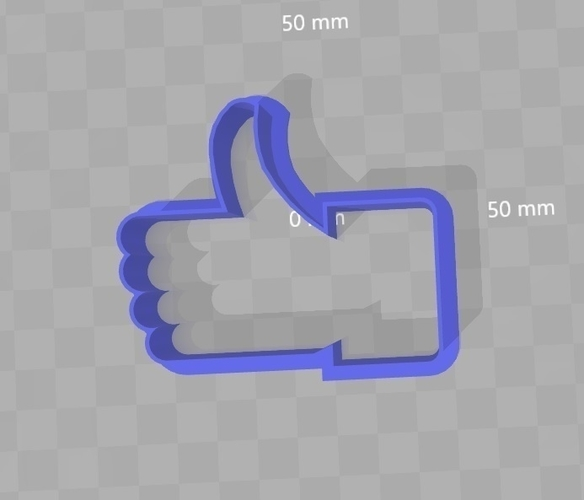 Cookie Cutter - Facebook Thumbs Up / Like  3D Print 180305