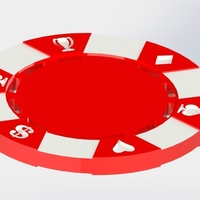 Small POKER CHIP 3D Printing 180309