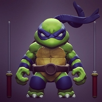 Small Chibi Mutant Ninja Turtle...the First!! 3D Printing 180400