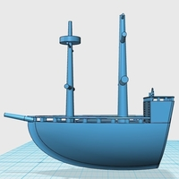 Small Pirate Ship 3D Printing 180470