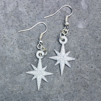 Small Starflake Earrings 3D Printing 180491