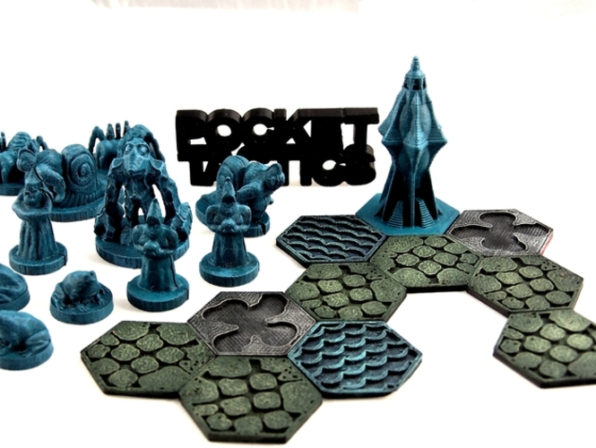 Pocket-Tactics Wizzards of the Crystal Forest 3D Print 1805