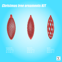 Small Christmas tree ornaments kit 3D Printing 180508