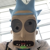 Small Rick Sanchez mask remix for larger printers 3D Printing 180526