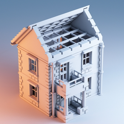 3d printed printable architecture kit house 1 by architecturekit