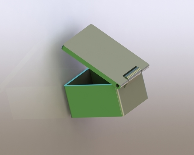 Simple Box with Lid 3D Print 180628