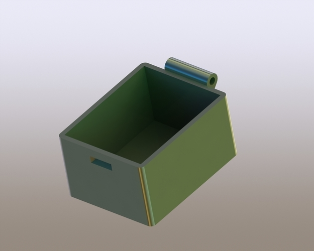 Simple Box with Lid 3D Print 180629