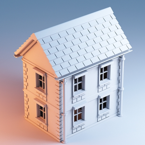 3D Printed Printable Architecture Kit House 1 By