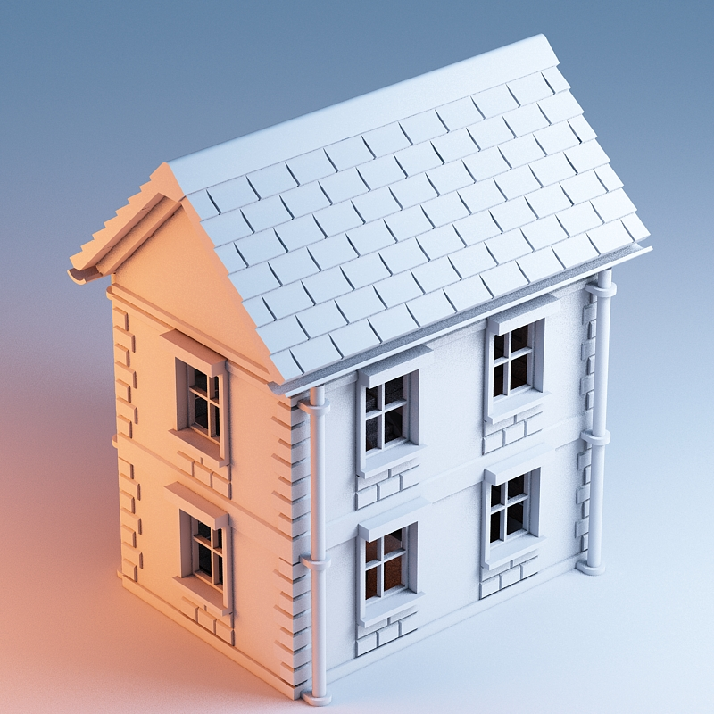 Delightful 3d House Modeling Part - 11: 3D Printed Printable Architecture Kit House 1 By ArchitectureKIT | Pinshape