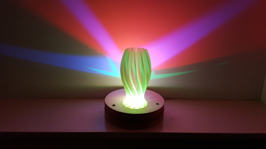 Wave Carved lamp 3D Print 180654