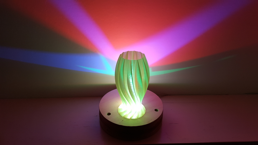 Wave Carved lamp 3D Print 180655