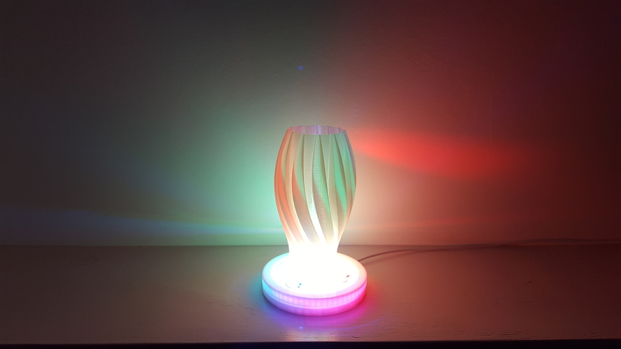 Wave Carved lamp 3D Print 180659