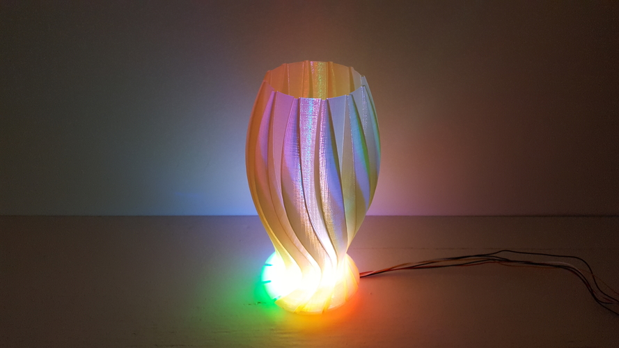 Wave Carved lamp 3D Print 180663