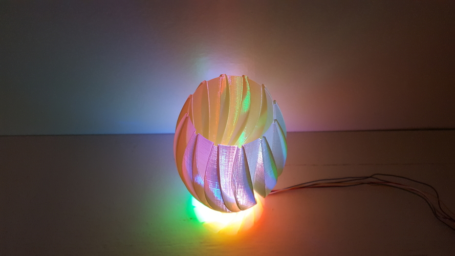 Wave Carved lamp 3D Print 180664