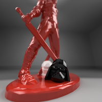 Small Faceless remix with darth vader 3D Printing 180673