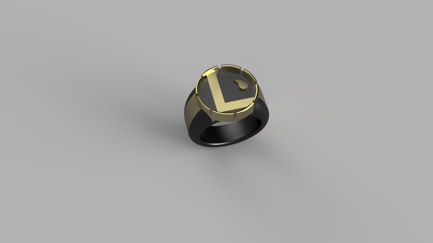 The CW Supergirl Legion of Superheroes Ring 3D Print 180674