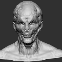 Small Zombie Head 3D Printing 180717