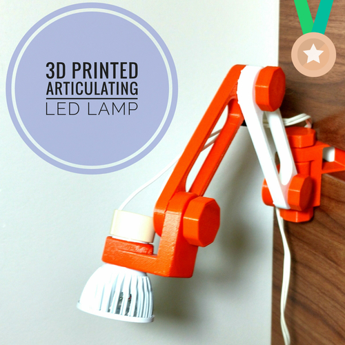 3D printed articulating LED lamp 3D Print 180746