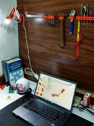 3D printed articulating LED lamp 3D Print 180762