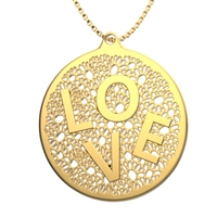 Small Necklace Love 3D Printing 18079