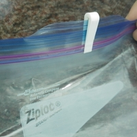 Small Ziploc Bag Zipper freezer with longer lip 3D Printing 180791