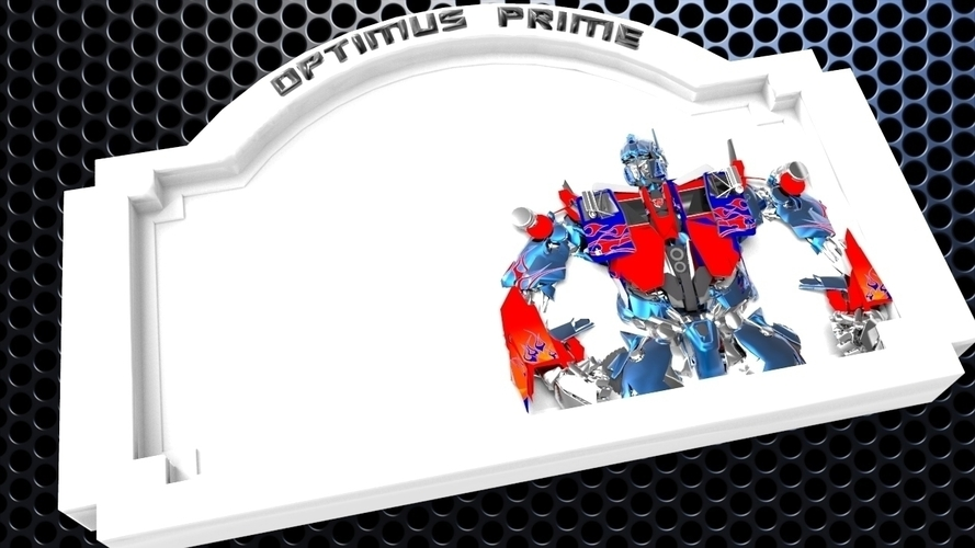 3D Printed Optimus Prime Bedroom Door Sign Template 2 Versions By
