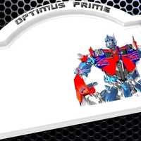 Small Optimus Prime Bedroom Door Sign Template - 2 versions 3D Printing 180811