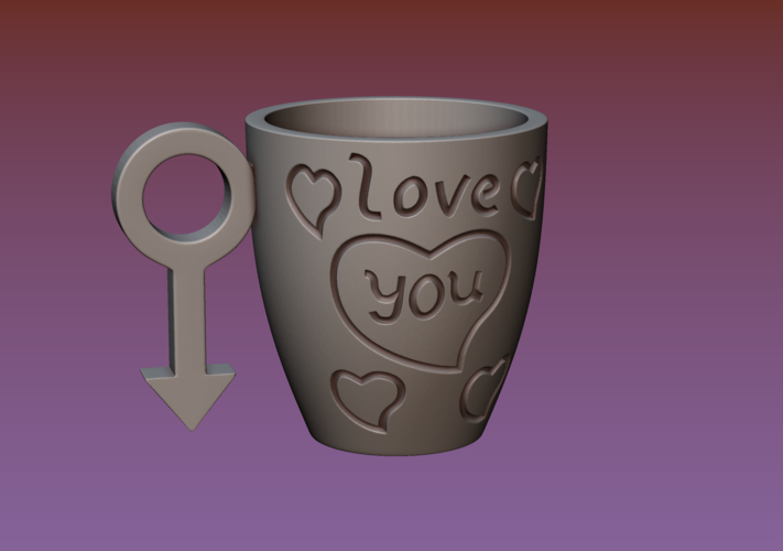 Cup with gender symbol 3D Print 180890