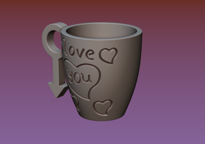 Cup with gender symbol 3D Print 180891