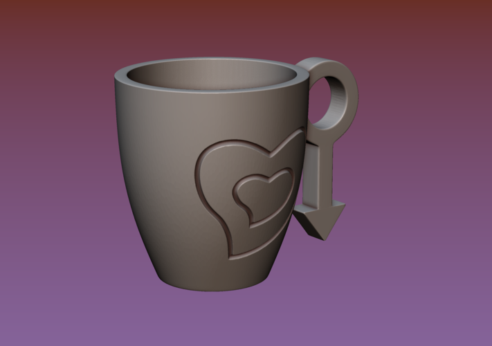 Cup with gender symbol 3D Print 180892