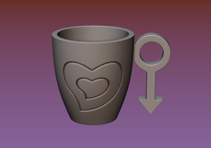 Cup with gender symbol 3D Print 180893